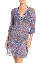 Gottex Women's Profile By Print Mesh Cover Up Tunic