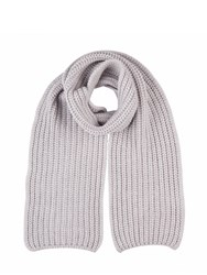 Johnstons Of Elgin Cashmere Chunky Luxe Rib Scarf Grey