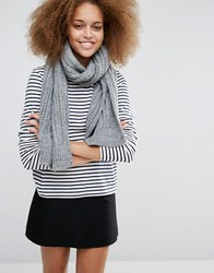 Warehouse Cable Knit Scarf Grey