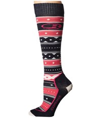 Icebreaker Ski Ultra Light Over The Calf Icon Fair Isle Admiral Pop Pink Snow Women's Crew Cut Socks Shoes Multi