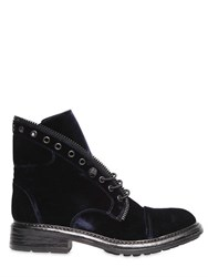 Fru.It 20Mm Velvet Ankle Boots W Zipper Trim