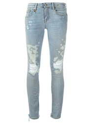 R 13 R13 Distressed Skinny Jeans Blue