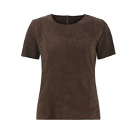 Ellesd Chocolate Suede T Shirt Brown