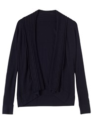 Precis Petite Nancy Ribbed Detail Long Cardigan Navy