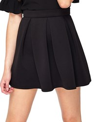 Miss Selfridge Scuba Skater Skirt Black