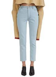 Eckhaus Latta High Waisted Skinny Jeans Blue