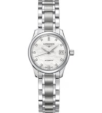 Longines L2.128.4.87.6 Master Automatic Stainless Steel Watch Mother Of Pearl