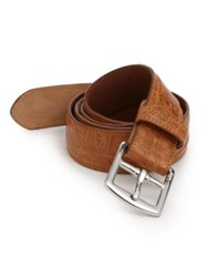 Polo Ralph Lauren Crocodile Harness Buckle Belt Brown