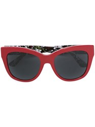 Dolce And Gabbana Cat Eye Frame Sunglasses Red