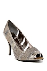 J. Renee Jemma Peep Toe Pump Multiple Widths Available Gray