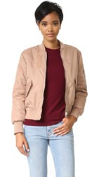 Whistles Carter Reversible Bomber Jacket Nude