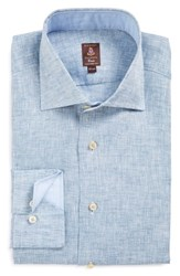 Men's Robert Talbott Tailored Fit Chambray Linen Dress Shirt