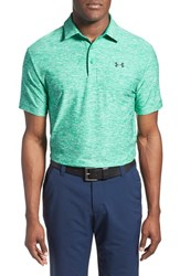 Men's Under Armour 'Playoff' Short Sleeve Polo Green Stealth
