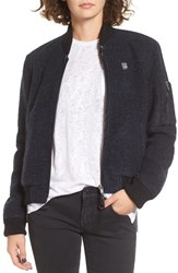 Obey Women's Karina Bomber Jacket Navy