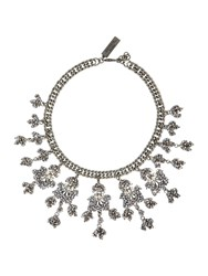 Max Mara Bardies Embellished Necklace Silver