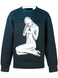 Juun.J Gradient Sweatshirt Blue