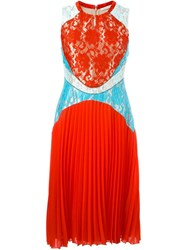 Christopher Kane Lace Insert Dress Red