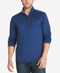 G.H. Bass And Co. Men's Big And Tall Performance Pullover Sodalite Blue Heather