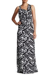Fraiche By J Art Deco Cowl Maxi Dress Multi