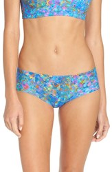 Commando Women's 'Active' Print Sport Briefs Nile Blue Print