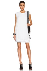 Blk Dnm 3 Layer Dress 82 In White