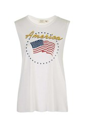 America Tank By Project Social T White