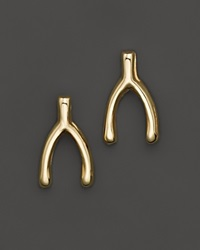 Zoe Chicco 14K Yellow Gold Small Wishbone Stud Earrings