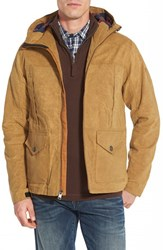 Men's Timberland 'Mount Davis' Waxed Cotton Hooded Hiking Jacket