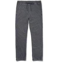 James Perse Loopback Cotton Jersey Sweatpants Gray