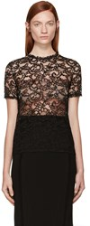 Nina Ricci Black Lace Cornelly Blouse