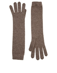 Johnstons Cashmere Long Gloves Driftwood