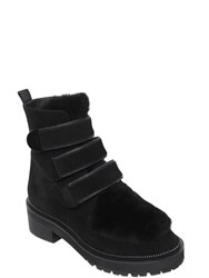 Kat Maconie 50Mm Shearling And Suede Boots