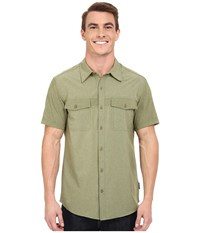 Royal Robbins Diablo Short Sleeve Shirt Aloe Men's Short Sleeve Button Up Green