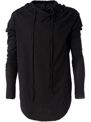 Lost And Found Funnel Neck Hoodie Black