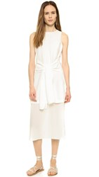 J.O.A. Tie Front Dress White