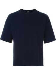 Jil Sander Round Neck T Shirt Blue