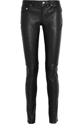Saint Laurent Stretch Leather Skinny Pants