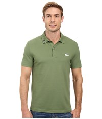 Lacoste Short Sleeve Clean Seams Pique W Rubber Croc Dill Men's Clothing Green