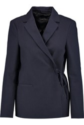 Joseph Indigo Cotton Canvas Blazer Storm Blue