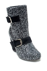 Muk Luks Melissa Wedge Boot Black