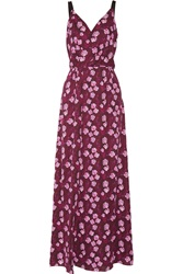 Band Of Outsiders Cherry Blossom Printed Silk Chiffon Maxi Dress
