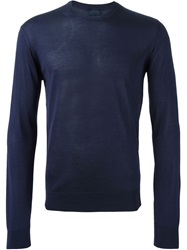 Lanvin Crew Neck Light Sweater Blue