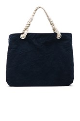 Frame Denim Beach Bag In Blue