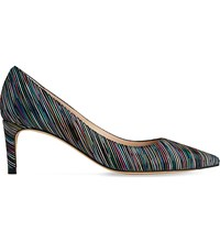 Lk Bennett Florida Rainbow Striped Suede Courts Mul Rainbow