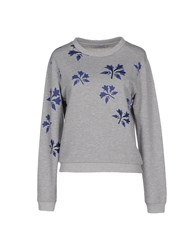 Lo Not Equal Topwear Sweatshirts Women Grey