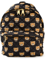 Moschino Quilted Teddy Bear Backpack Black