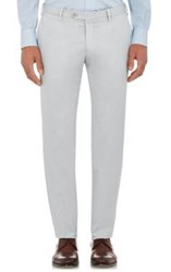 Isaia Gabardine Trousers Grey
