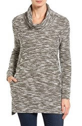 Caslonr Women's Caslon Knit Cowl Neck Tunic Olive Grove Tweed Pattern