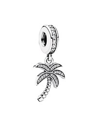 Pandora Design Pandora Dangle Charm Sterling Silver And Cubic Zirconia Sparkling Palm Tree Moments Collection