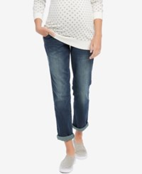 Motherhood Indigo Blue Maternity Dark Wash Boyfriend Jeans